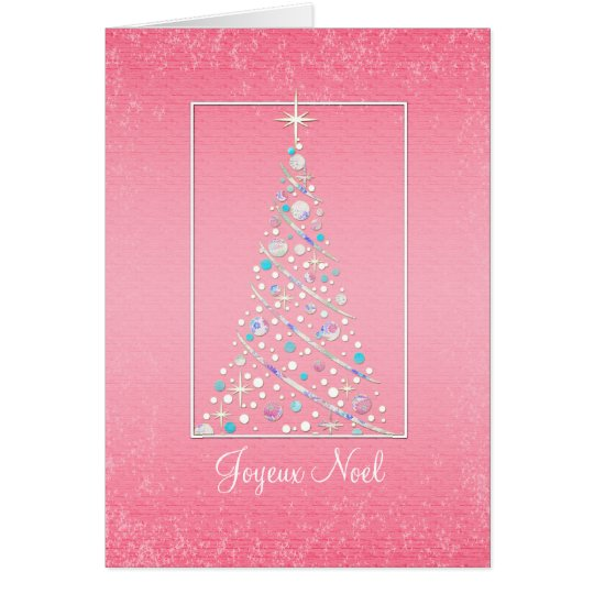 Joyeux Noel - French - Merry Christmas Tree Card