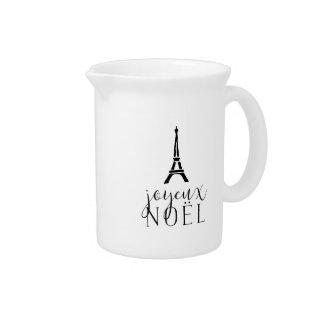 Joyeux Noel   Holiday Eiffel Tower Pitcher