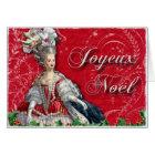 Joyeux Noel Marie Antoinette Christmas Card