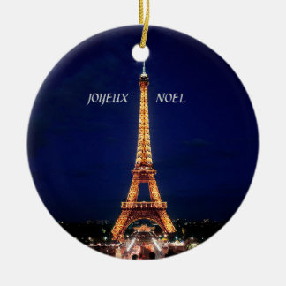 JOYEUX, NOEL  (MERRY CHRISTMAS) CHRISTMAS ORNAMENT