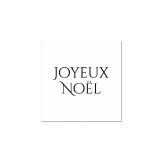 Joyeux Noël, Merry Christmas in French, Rubber Stamp