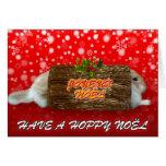Joyeux noel Red Xmas - Rabbit Christmas Card