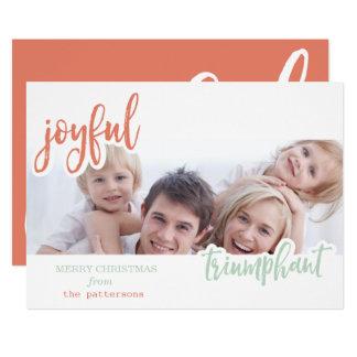 joyful and triumphant card