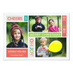 Joyful & Bright Holiday Photo Card Invites