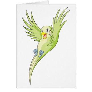 Joyful Budgerigar Budgie Greeting Cards