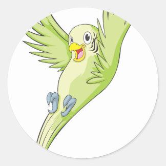 Joyful Budgerigar Budgie Round Sticker