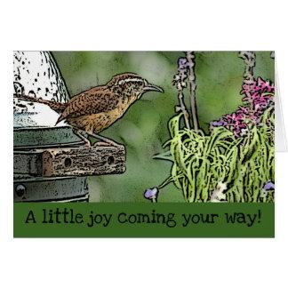 Joyful Carolina Wren Card