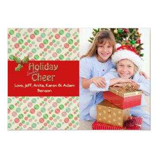 Joyful Christmas Holiday Photo Card 13 Cm X 18 Cm Invitation Card