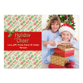 Joyful Christmas Holiday Photo Card