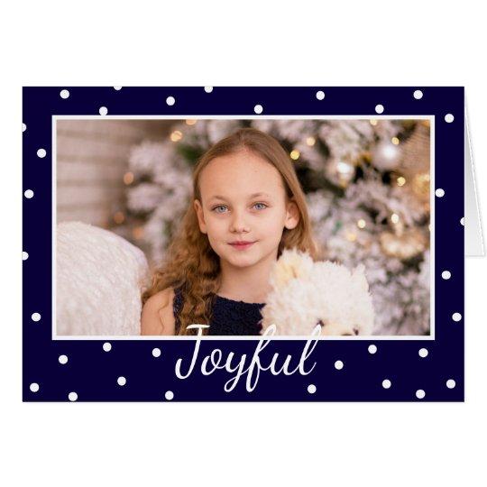 Joyful Christmas Modern Typography Photo Insert Card
