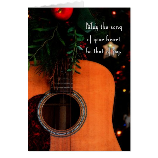 Joyful Christmas Song, Holiday Acoustic Guitar Card