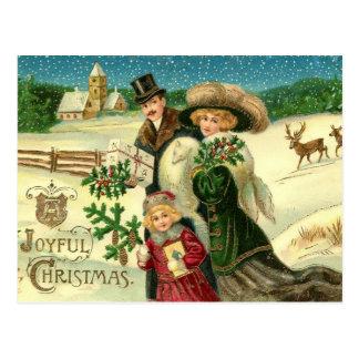 Joyful Christmas Vintage Christmas Postcard