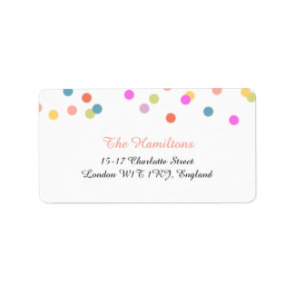 Joyful | Confetti Wedding Address Labels