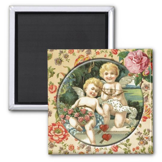 Joyful Cupid Vintage Custom Magnet