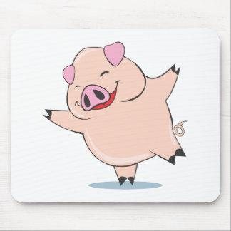 Joyful Dancing Pig Mousepad