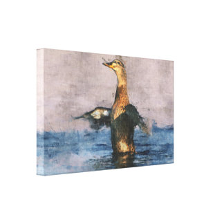 Joyful Duck Canvas Canvas Prints