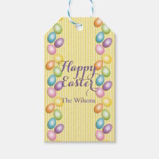 Joyful Easter Eggs Family or Business Name Gift Tags