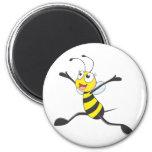 Joyful Female Bee Magnet