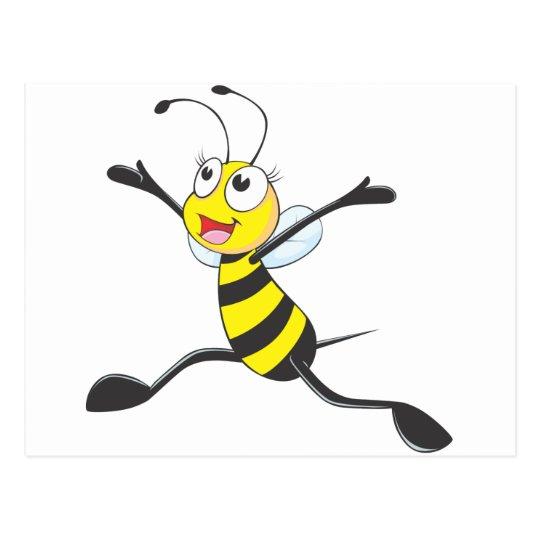 Joyful Female Bee Postcard