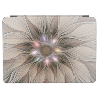 Joyful Flower Abstract Beige Brown Floral Fractal iPad Air Cover