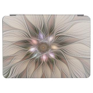 Joyful Flower Abstract Beige Brown Floral Fractal iPad Air Cover