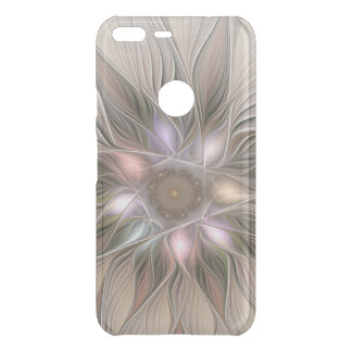 Joyful Flower Abstract Beige Brown Floral Fractal Uncommon Google Pixel XL Case