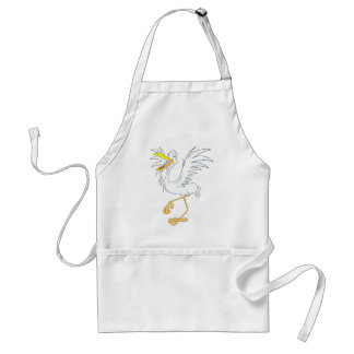 Joyful Great Egret Bird Standard Apron