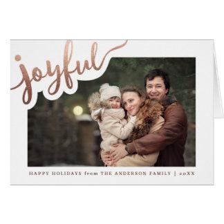 Joyful   Happy Holidays Photo Card