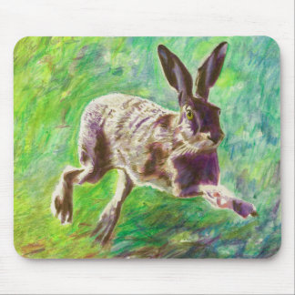 Joyful hare 2011 mouse mat
