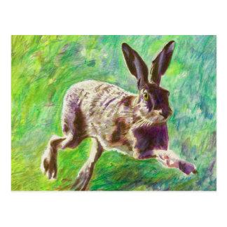 Joyful hare 2011 postcard