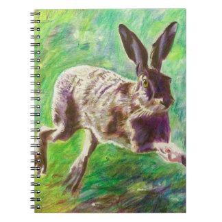 Joyful hare 2011 spiral notebook