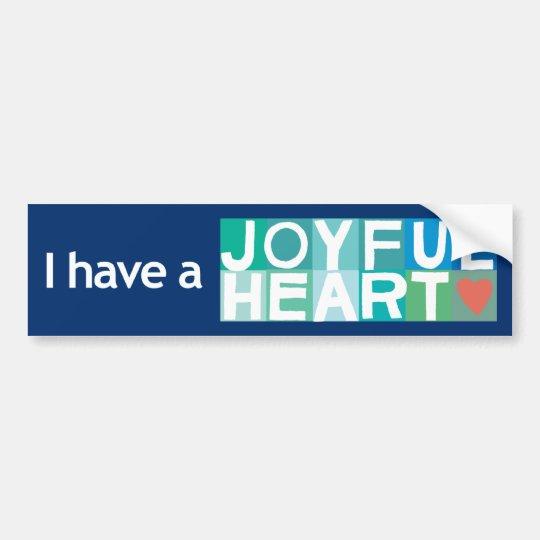 Joyful Heart Bumper Sticker - Navy