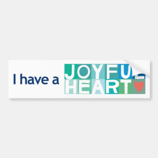 Joyful Heart Bumper Sticker - White