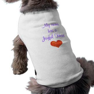 Joyful Heart Dog T-shirt