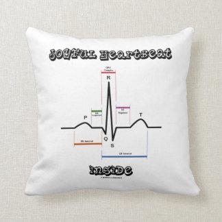 Joyful Heartbeat Inside ECG EKG Electrocardiogram Cushions