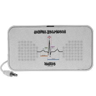 Joyful Heartbeat Inside ECG EKG Electrocardiogram Travelling Speaker