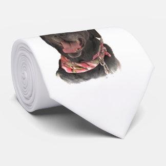 Joyful Holiday Black Labrador Retriever Dog Tie