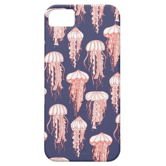 Joyful Jellyfish Phone Case Deep Blue Purple