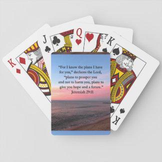 JOYFUL JEREMIAH 29:11 SUNRISE PLAYING CARDS