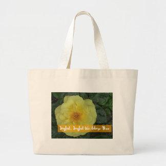 Joyful, Joyful, We Adore Thee - Botanical Flower Large Tote Bag