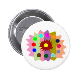 Joyful Kids Color Blasters n Sunflower Formations 6 Cm Round Badge