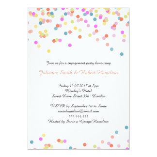 Joyful | Modern Confetti Engagement Pary Card