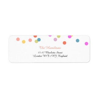 Joyful | Modern Confetti Return Address Labels