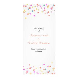 Joyful | Modern Confetti Wedding Program Rack Card