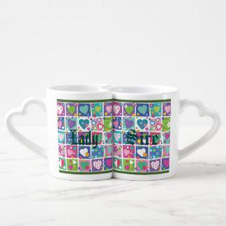 Joyful multi color hearts fun girly trendy lovely lovers mug