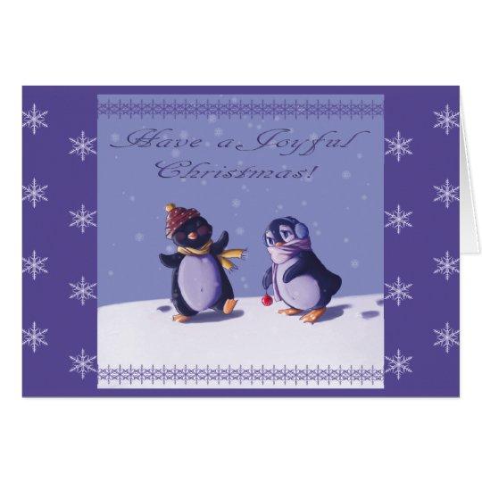Joyful Penguins Christmas Card