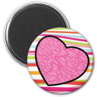 Joyful Pink Heart Magnet