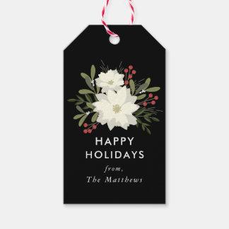 Joyful Poinsettia Christmas Gift Tags
