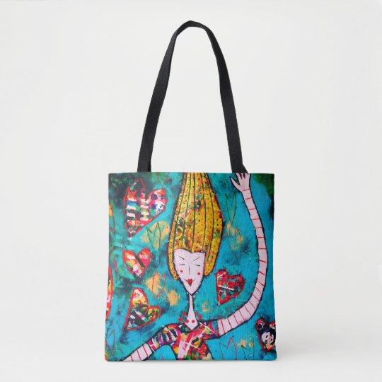 Joyful shopping bag tote