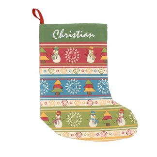 Joyful Snowman Christmas Trees Christmas Stocking